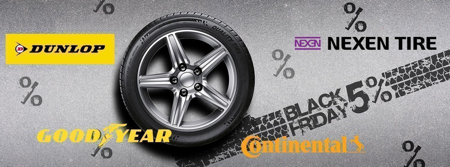 Buy tyres on Black Friday Day